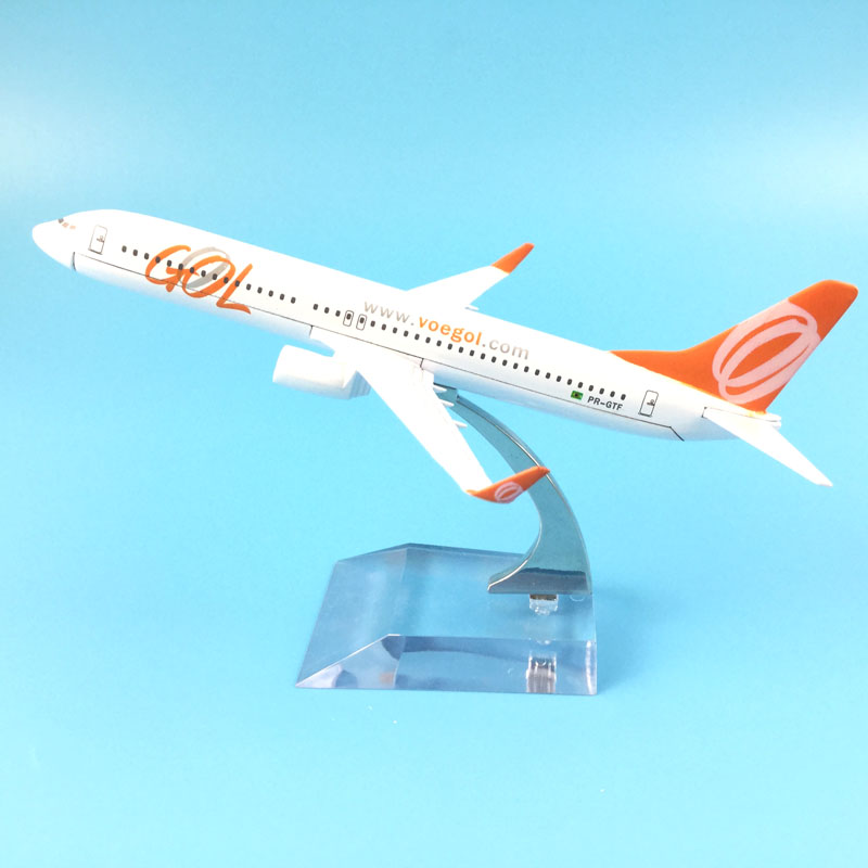 16cm Alloy Metal Model Plane Brazil Air GOL Airlines Boeing 737 B737 800 Airways Aircraft Airplane Model w Stand Gift16cm Alloy Metal Model Plane Brazil Air GOL Airlines Boeing 737 B737 800 Airways Aircraft Airplane Model w Stand Gift