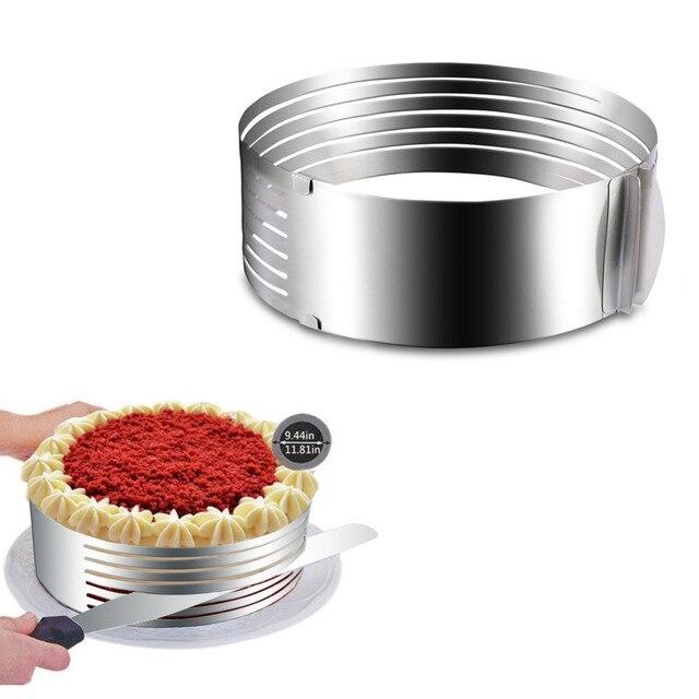 Edelstahl Kuchenschneider Einstellbare Layer Schneiden Mousse Ring