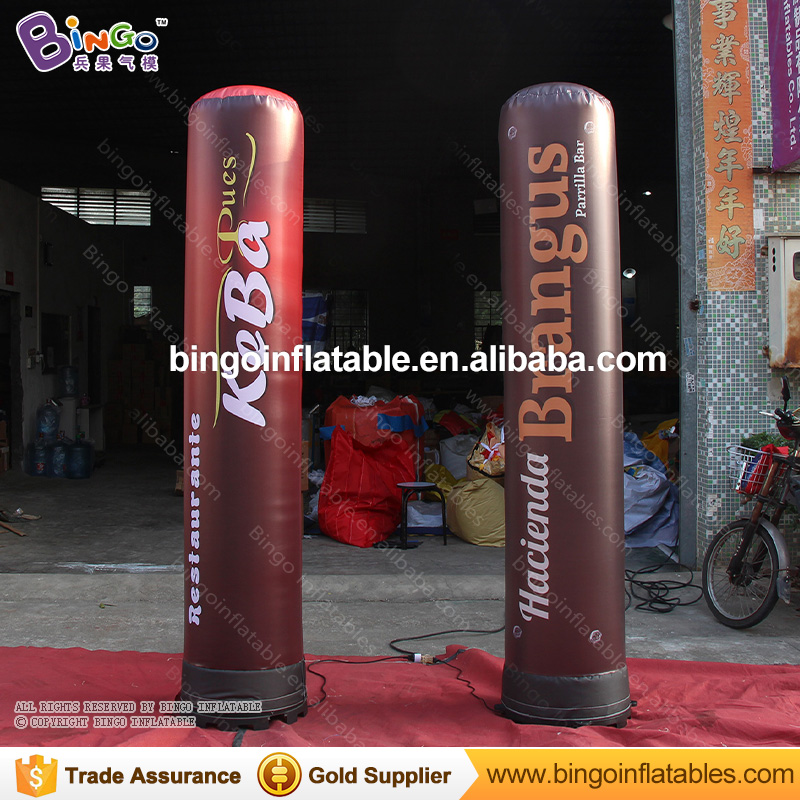 PRINTING COLUMN 2.4m inflatable lighting LED full print lamp balloon air filled light up decoration customized for advertisingPRINTING COLUMN 2.4m inflatable lighting LED full print lamp balloon air filled light up decoration customized for advertising
