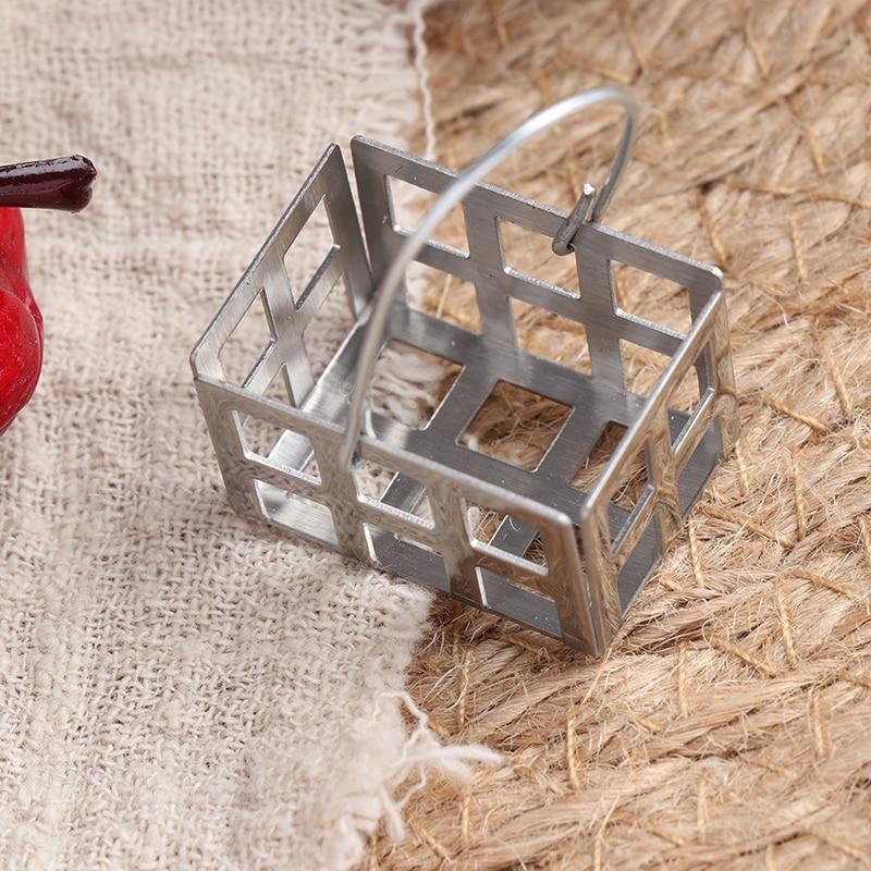 Genuine Bulks Mini Metal Food Egg Basket Kitchen Toy Match Collectible Gift 1:12 Dollhouse Miniature