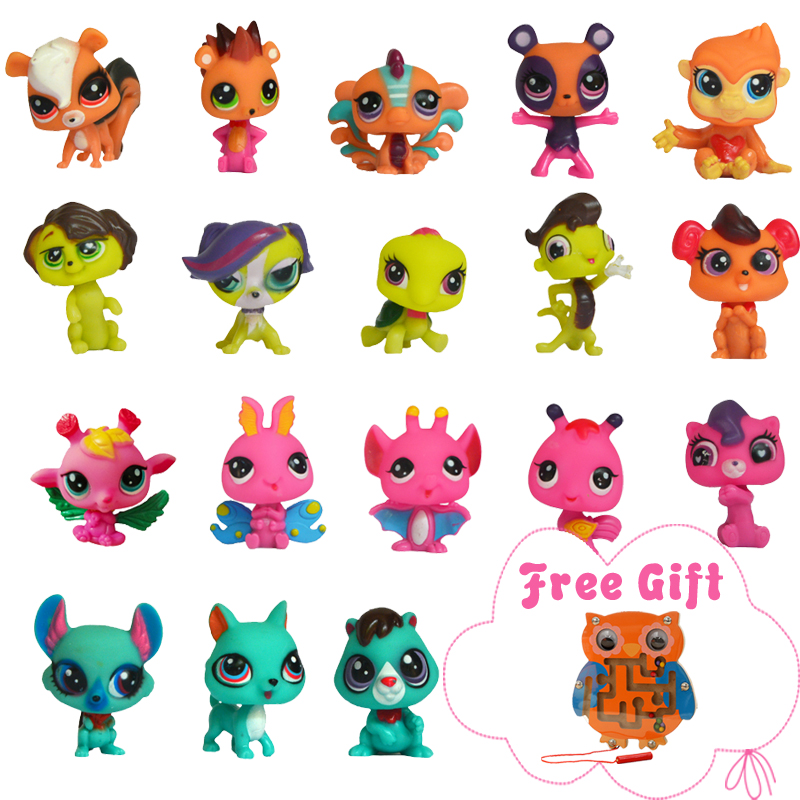 Anime Action Figure Toys For Kids 38PCS/Lot PVC Model Figurine Mini Cute Dog Cat Little Animal Girl Collection Loose Pet Toys rysunek kolorowy motyle