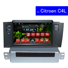 1024*600 HD Android Car DVD Player for Citroen C4L GPS Navigation Bluetooth TV 3G WIFI USB SD Touch Screen Car Radio 2 Din