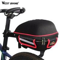 WEST BIKING Bike Rear Bag Reflective Waterproof Rain Cover Portable Mountain Road Bike Cycling Tail Extending Bicycle Saddle Bag