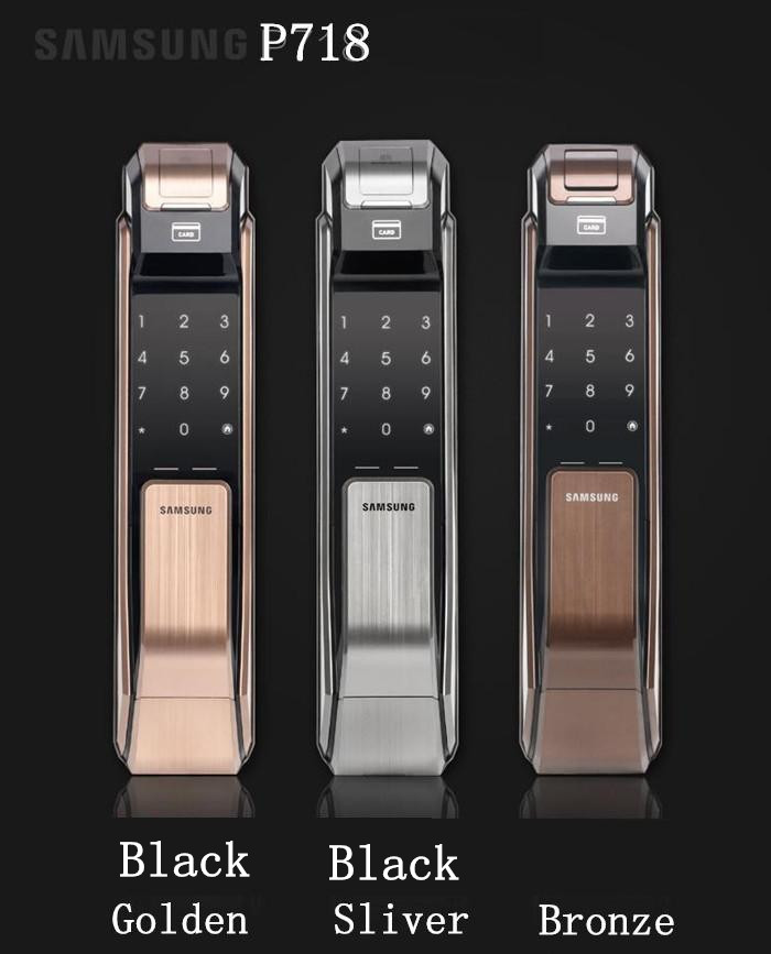 SAMSUNG SHS-P718 Fingerprint Digital Door Locks Push Pull Keyless Fingerprint Tag like P910 пульт samsung shs darcx01