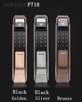 Samsung shs p718 отпечатков пальцев цифровой дверные замки Push Pull Keyless дверной замок открывающийся на отпечаток пальца как P910