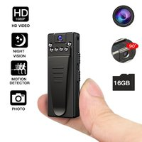 HD 1080P Mini Camera DV Portable HD Covert Body Cam with Night Vision and Motion Detection Indoor Outdoor Small Security Camera