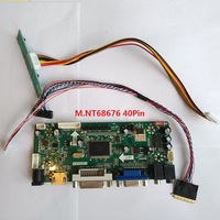 Kit for LTN140AT08 S01 Screen Panel 1366X768 Display DVI HDMI LCD VGA 14 LED DIY M.NT68676 40pin Controller board