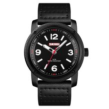 SKMEI Top Brand Men Watch Fashion Genuine Leather Strap Quartz Watch 30m Waterproof Business Casual Wrist Watch Relogio Watches стоимость