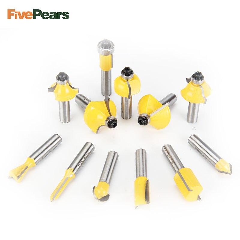 Fivepears 12 Stucke 8mm Router Bits Set Professional Schaft