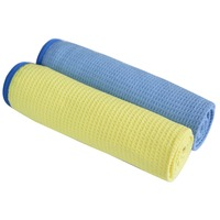 Sunland z mikrofibry ręcznik Waffle splot czyszczenie samochodu pranie w kuchni tkaniny szczegółowo ręcznik do suszenia środek do pielęgnacji karoserii 70cm X 40cm 2 sztuk w Ściereczki do czyszczenia od Dom i ogród na