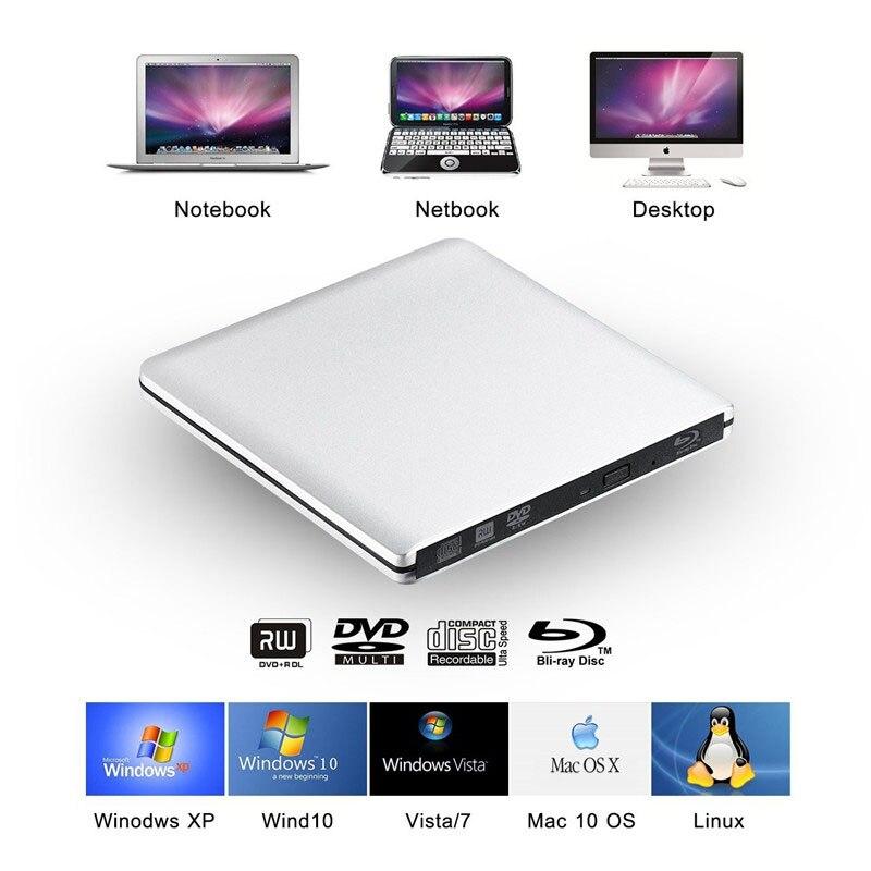 Bluray USB 3.0 Externe dvd-station Blu-ray Combo BD-ROM 3D-speler CD - Computer componenten - Foto 5
