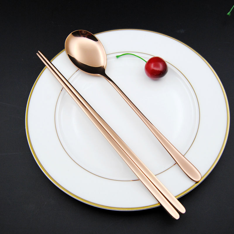 Gold Chopstick spoon