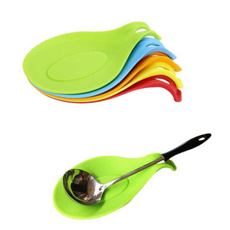 Spatula Spoon Resistant Heat Gadget Dish Silicone Placemat Mat Eggbeater Insulation Style Kitchen Tray Pad