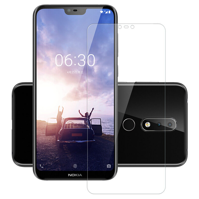 For Nokia 8110 4G Toughened Screen Protector Film for Nokia 7.1 6.1 5.1 3.1 2. 1 X6 2018 7 plus 8 Sirocco Tempered Glass Film