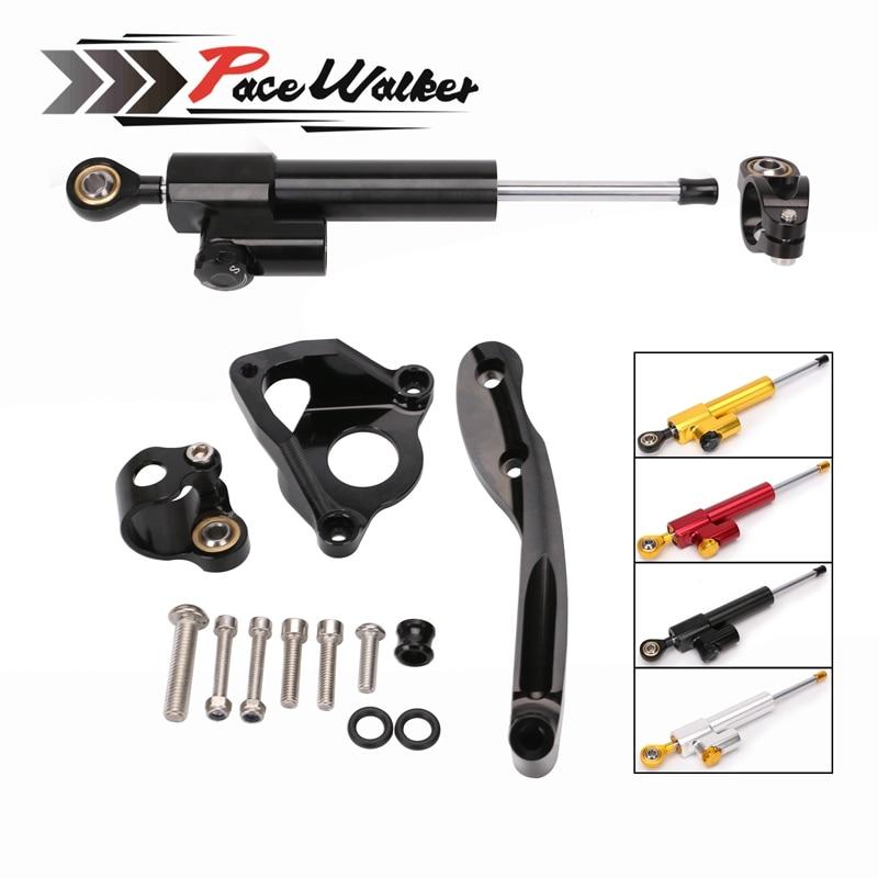 Free shipping Motorcycle Adjustable Steering Stabilize Damper Bracket Mount Kit For HONDA CBR600RR 2007 2016