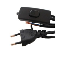 3C VED Lamp Switch Line Power Switch Cable Table Lamp Power Cord 303 Switch Cable Black