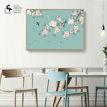 CREATE&RECREATE Chinese Poster Flower Posters And Prints Wall Art Canvas Oil Painting Bird Home Decoration Pictures CR1810110038