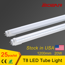 Stock in US / 4ft T8 Led Tube Light 1200mm Lamp Neon Tubes 85-265V Factory Price