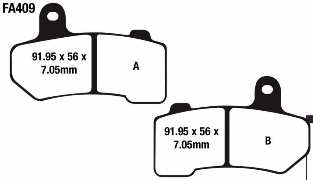 2015-2017 Harley Davidson Road Glide Special Front /& Rear Brake Pads FA409