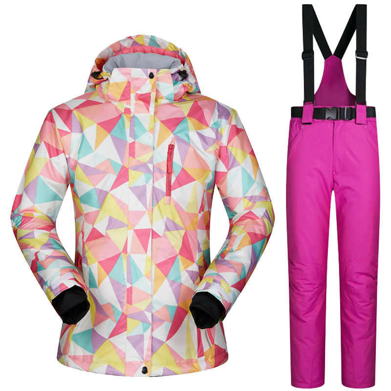 Women's Ski Jacket And Pant Winter Outdoor Jacket Snowboard Ski Coat Female Snow Wear Ski Suit Windproof Waterproof Breathable все цены