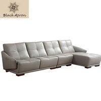 TOIN Leather Sofas Living Room Furniture Sectional Kanepe Modern Italian Sillon Bankstel Woonkamer Meubels Corner Sofa
