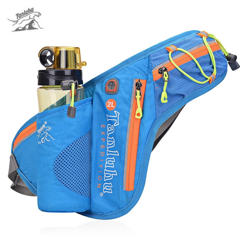 Tanluhu 371 2L Outdoor Trail Running Belt Bag Waist Backpack Water Bottle Holder Waterproof Marathon Jogging Belt Bag Pouch