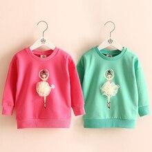 Baby little girl sweatshirt hoodies 2016 spring children's kids girls clothing child pullover outerwear wt-5975