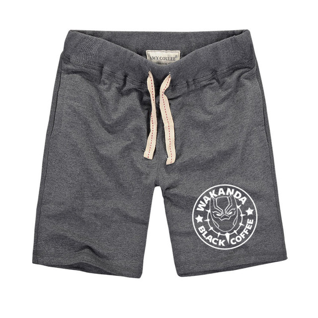 7104a879dd Pure Cotton Shorts Men Summer Black Panther Print Shorts Male Bermuda  Casual Board Short Pants Man
