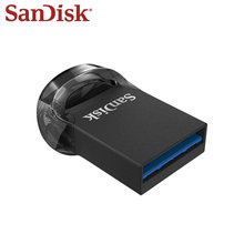 SanDisk – Mini clé USB 3.1 CZ430 originale, support à mémoire de 16GB 32GB 64GB 256GB 128GB, jusqu'à 130 mo/s, disque U
