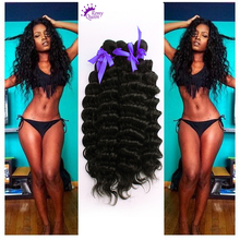 Top Quality Indian Deep Curly Hair 5 Bundles 7A Deep Wave Indian Remy Hair Extensions 8