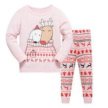 New Children pajamas set kids 100% cotton sleepwear Boys Fashion casual Cartoon design nightwear Girl home clothes size 2-7T
