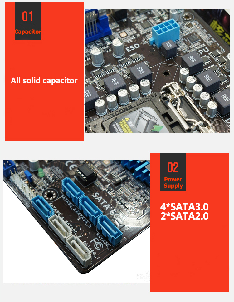 Z77 LGA 1155 For ASUS P8Z77-V LX Desktop motherboard Intel LGA 1155 Z77 DDR3 32G ATX Support for fighting 100% fully Tested 13