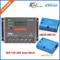 Wi Fi и bluetooth функции беспроводной Box адаптер для солнечной системы панелей 12 В 24 В зарядное устройство контроллер VS4524BN 45A 45 усилители