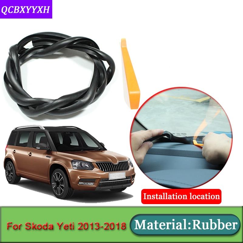 Car-styling For Skoda Yeti 2013-2018 Anti-Noise Soundproof Dustproof Car Dashboard Windshield Sealing Strips Auto Accessories
