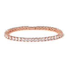 4mm 5mm Iced Out Zircon Tennis Bracelet  Copper Bling Link chain with Box Clasp Mens Hip hop Jewelry Gift