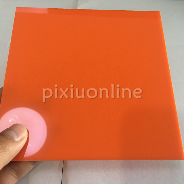 1pc J597b Opaque Acrylic Board Orange Color Non transparent Plastic ...