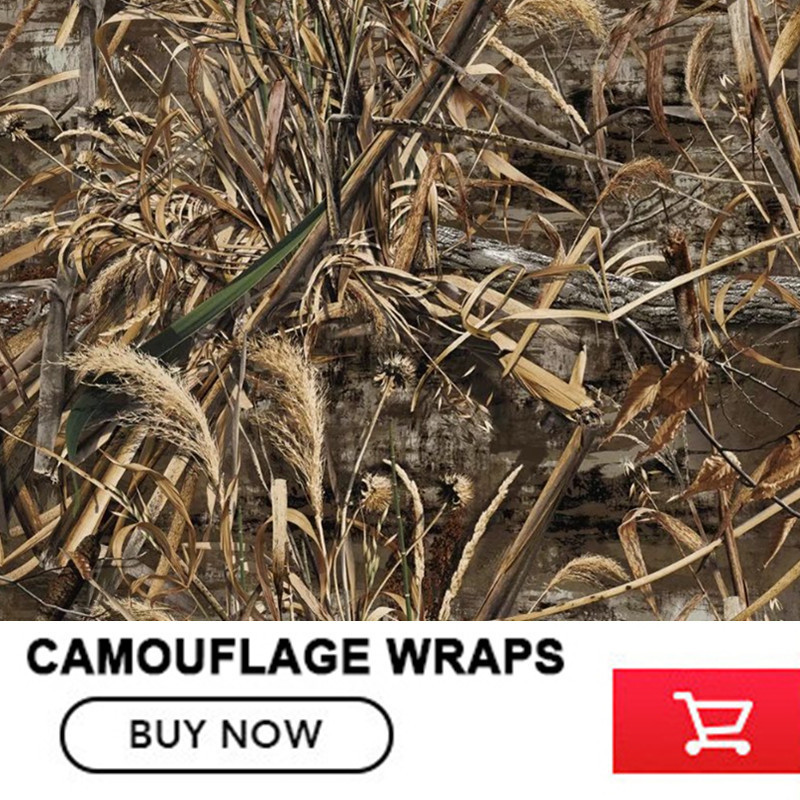 FS016 Camouflage Car Wrap Realtree Camo Vinyl Break up Jumbo Leaf Graphic PVC Car Styling Sticker Film Roof Hood Golf Cart Truck shadow grass blades camo vinyl car wrap duck hunter adhesive pvc camouflage film for truck motocycle hood decals