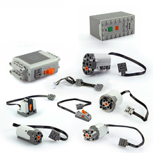 In Stock Motor technic train Remote Receiver LED Light Battery Box Power Functions 20001 3368 Technic 20053 MOC Brick Parts Toys
