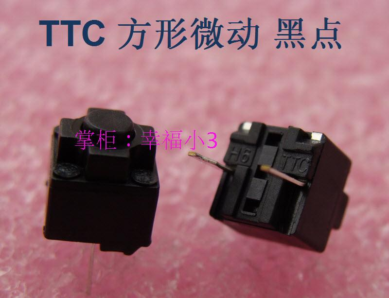 10pcs/lot 100% Original TTC Square Mouse Micro Switch Middle Button Of Deathadder Life 8,000,000 Times