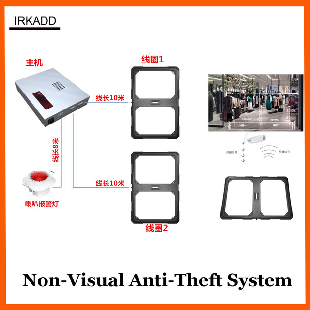2017 new non visuale 58Khz eas system luxury shop anti shoplifting system 1 set
