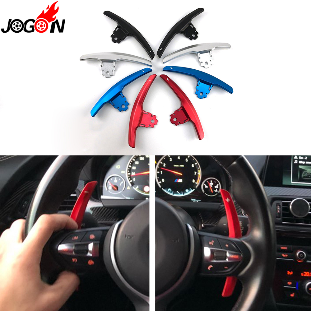 цена на Metal & Carbon Fiber Steering Wheel Paddle Extension Shifter Replace For BMW M2 F80 M3 F82 F83 M4 F10 M5 F12 M6 F15 X5M F16 X6M
