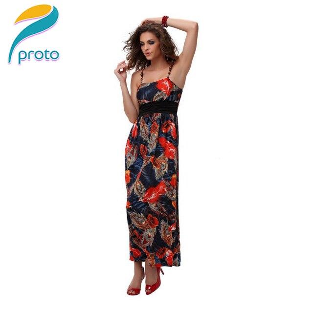 1a11623fff6 M XXL Plus Size 2014 New Summer Dress Women Peacock Vintage Printed Dress  Bohemian Long Maxi