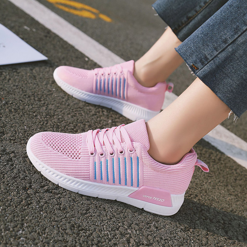 Woman casual shoes Breathable 2018 Spring Sneakers Women New Arrivals Fashion mesh sneakers shoes women tenis feminino