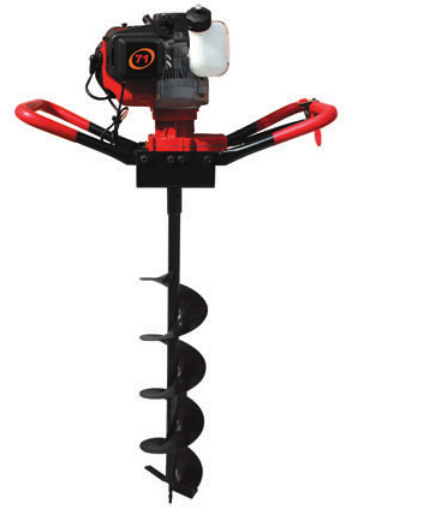 NEW 52cc 2.2kw  Post Hole Digger Earth Auger Petrol Drill Bits Fence Borer Professional 200mm drill and 60cm extend pole