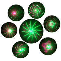 Thrisdar RG 20 Pattern Green Red Christmas Laser Projector Lights RF Remote Outdoor Motion RG Shower