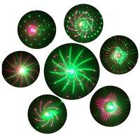 Thrisdar RG 20 Pattern Green Red Christmas Laser Projector Lights RF Remote Outdoor Motion RG Shower