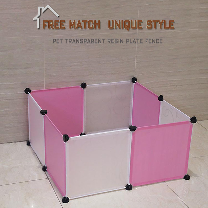 Transparent Dog Beds For Large Dogs Free Assembly Non toxic Resin Playpen Dog House Chihuahua Puppy