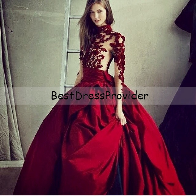 Long Sleeve Ball Gown Prom Dresses – fashion dresses