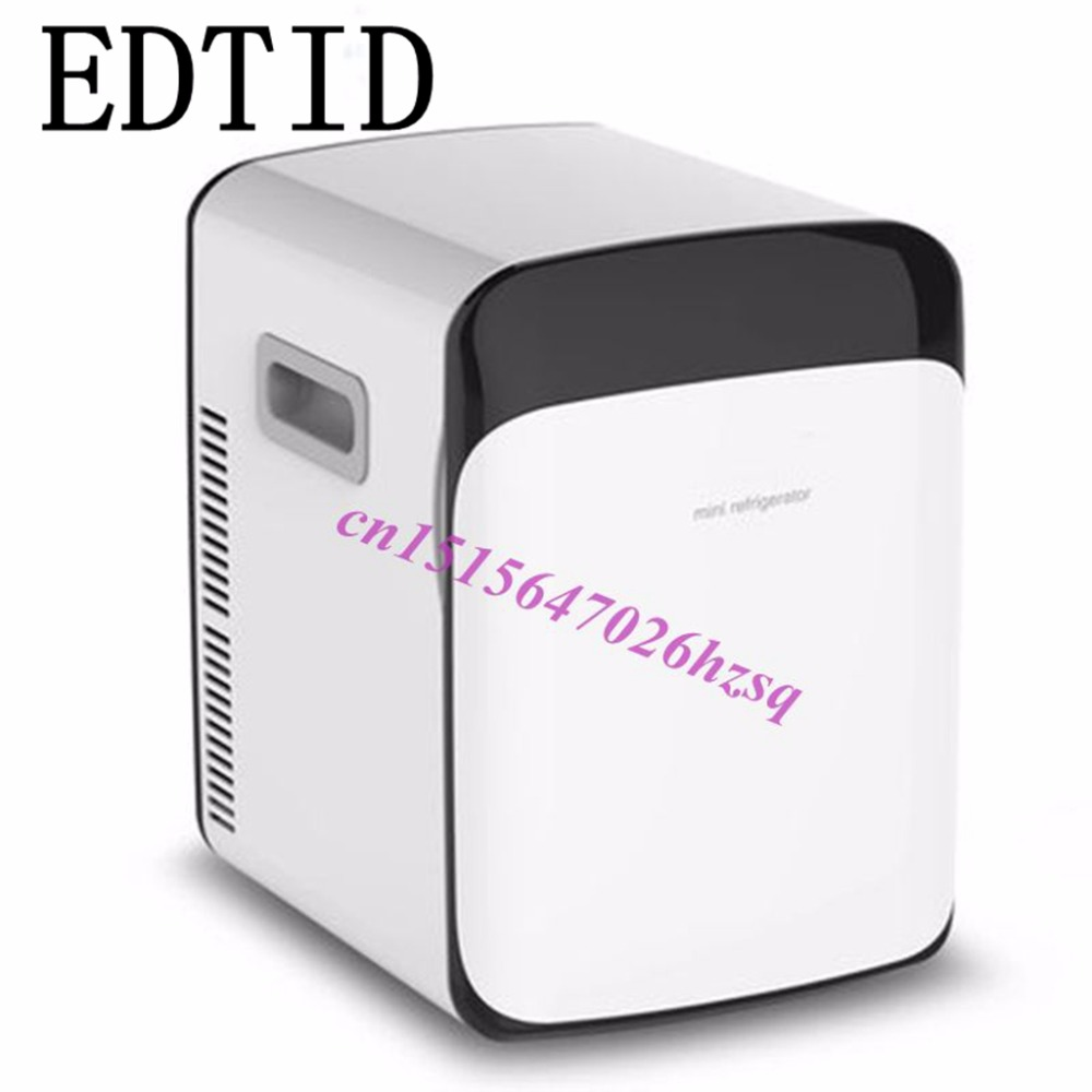 EDTID 13.8L Car Fridge Portable Car Refrigerator Travel Car Cooler Box Dual Use Refrigerator For Car and home smad 24l 12v portable car mini fridge truck refrigerator 110v office dorm food warmer cooler box high quality camping fridge