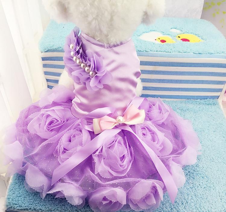Fd74 envío gratis precioso perro de mascota perrito Vestidos vestido ...